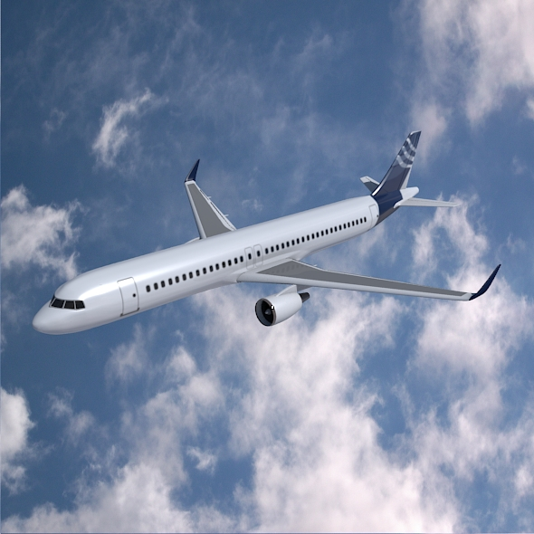 airbus a320-100 jetliner masnachol Model 3d 3ds fbx blend dae obj 211617