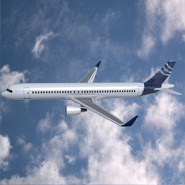 airbus a320-100 commercial jetliner 3d model 3ds fbx blend dae obj 211618