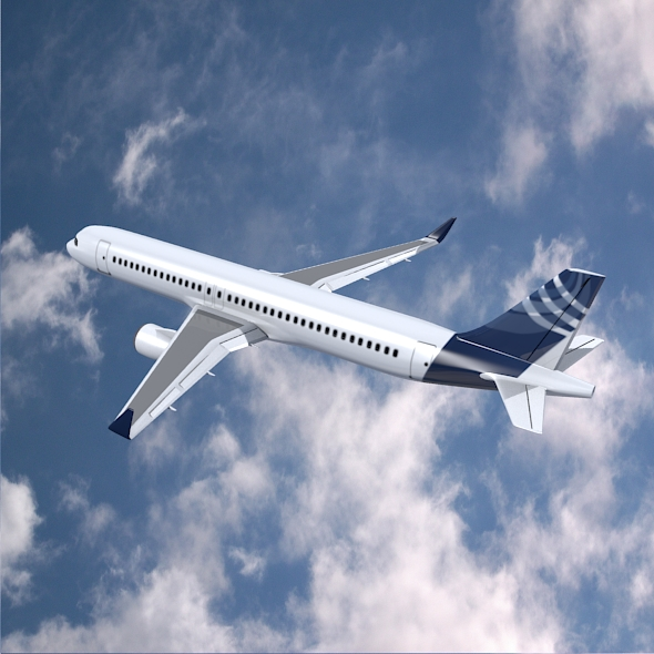 airbus a320-100 commercial jetliner 3d model 3ds fbx blend dae obj 211619