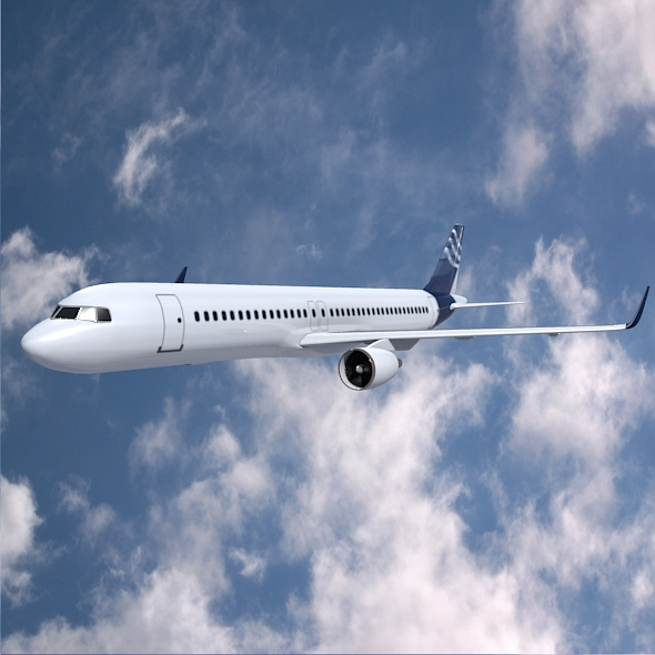 Airbus A320-100 commercial jetliner ( 221.4KB jpg by futurex3d )