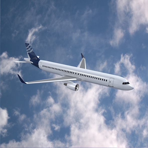 airbus a320-100 commercial jetliner 3d model 3ds fbx blend dae obj 211624