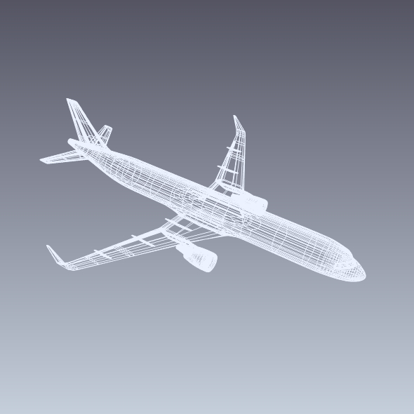 Airbus A320-100 commercial jetliner ( 85.71KB jpg by futurex3d )