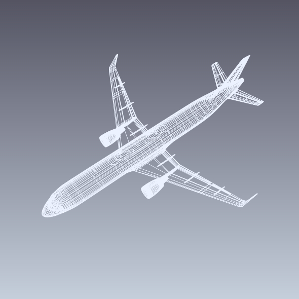 airbus a320-100 commercial jetliner 3d model 3ds fbx blend dae obj 211627