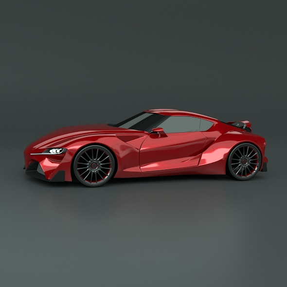 toyota ft1 concept car restyled 3d model 3ds fbx blend dae obj 211629