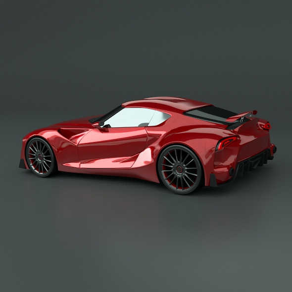 toyota ft1 concept car restyled 3d model 3ds fbx blend dae obj 211630