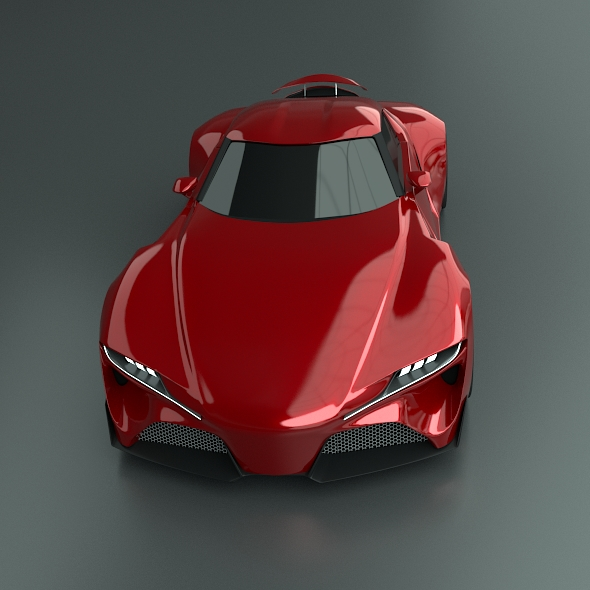 toyota ft1 concept car restyled 3d model 3ds fbx blend dae obj 211631