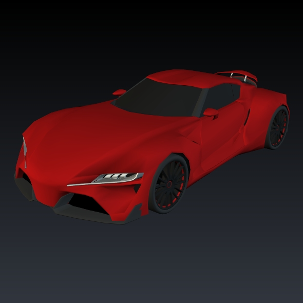 toyota ft1 concept car restyled 3d model 3ds fbx blend dae obj 211635