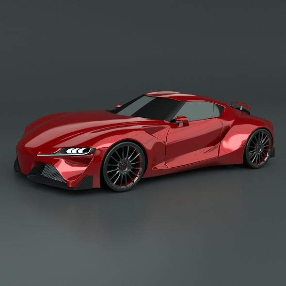 toyota ft1 concept car restyled 3d model 3ds fbx blend dae obj 211636