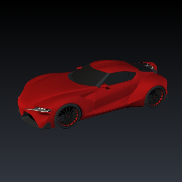 toyota ft1 concept car restyled 3d model 3ds fbx blend dae obj 211637