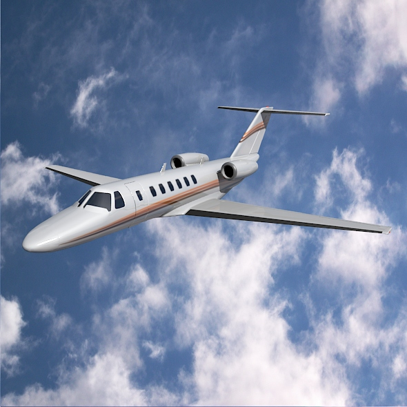 citation cj3 private jet cessna 3d model 3ds fbx blend dae lwo obj 211641