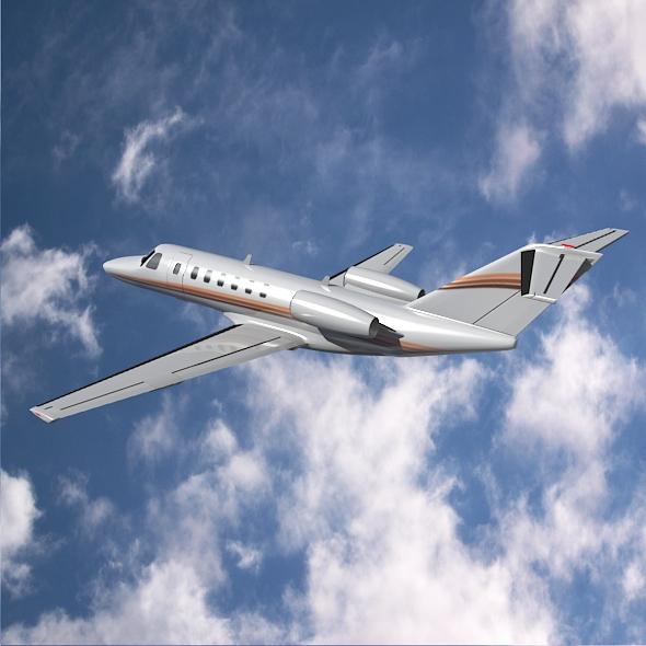 citation cj3 private jet cessna 3d model 3ds fbx blend dae lwo obj 211643