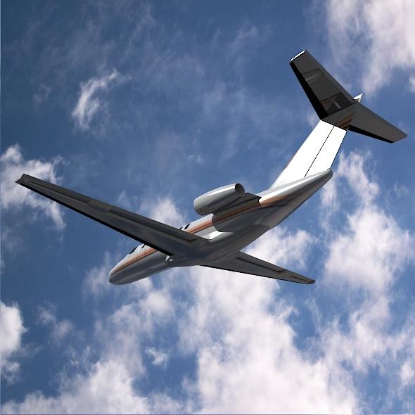 citation cj3 private jet cessna 3d model 3ds fbx blend dae lwo obj 211644