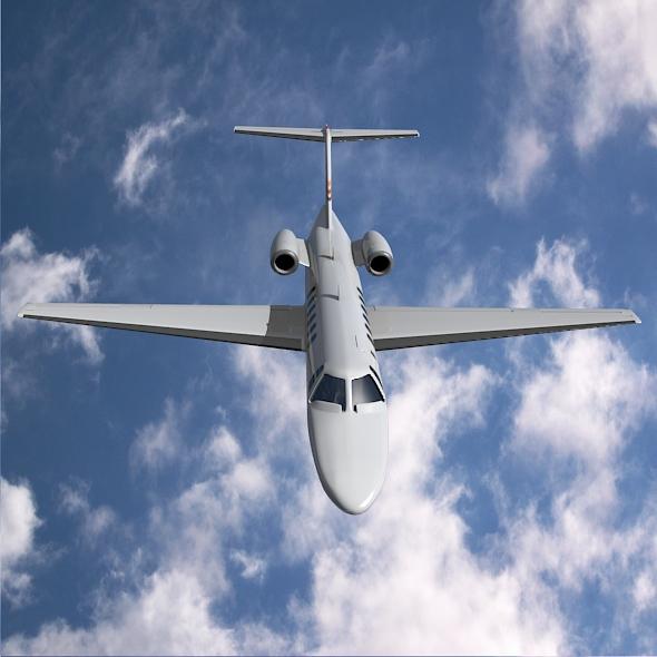 citation cj3 private jet cessna 3d model 3ds fbx blend dae lwo obj 211645