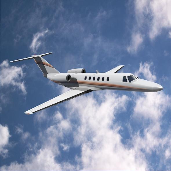 citation cj3 private jet cessna 3d model 3ds fbx blend dae lwo obj 211646