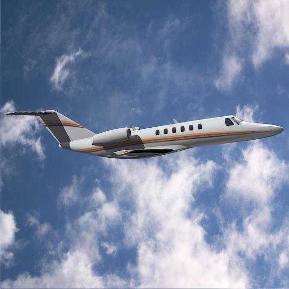 citation cj3 private jet cessna 3d model 3ds fbx blend dae lwo obj 211647