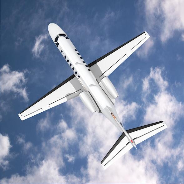 citation cj3 private jet cessna 3d model 3ds fbx blend dae lwo obj 211648