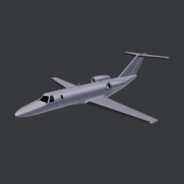 citation cj3 private jet cessna 3d model 3ds fbx blend dae lwo obj 211649