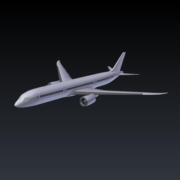 Boeing 787-9 dreamliner ( 55.88KB jpg by futurex3d )