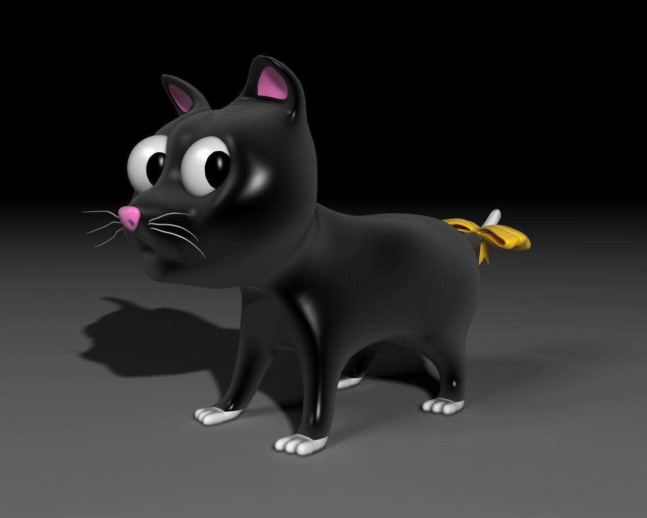 toon kitty moon 3d model 3ds max 211663
