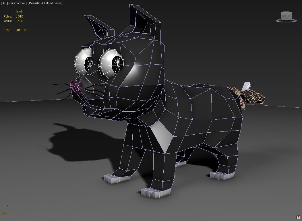 toon kitty moon 3d modelis 3ds max 211666