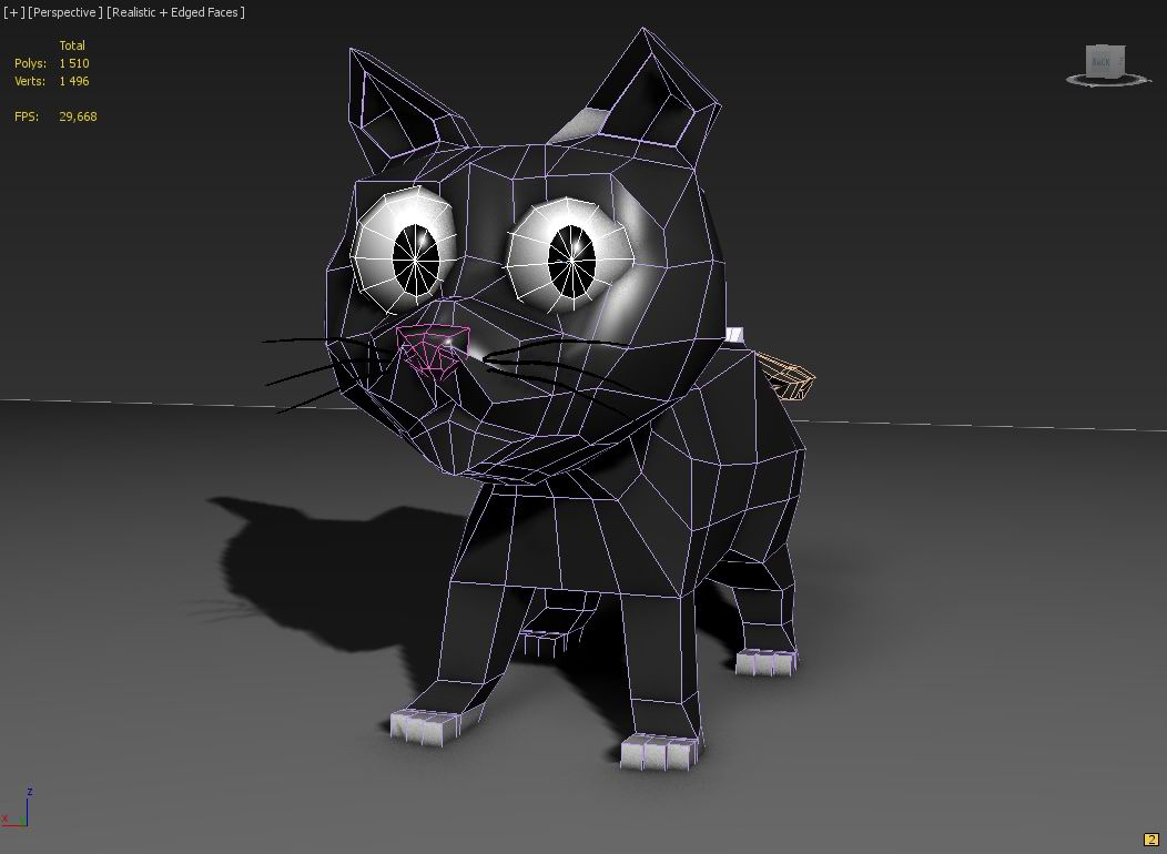toon kitty moon 3d modelis 3ds max 211667