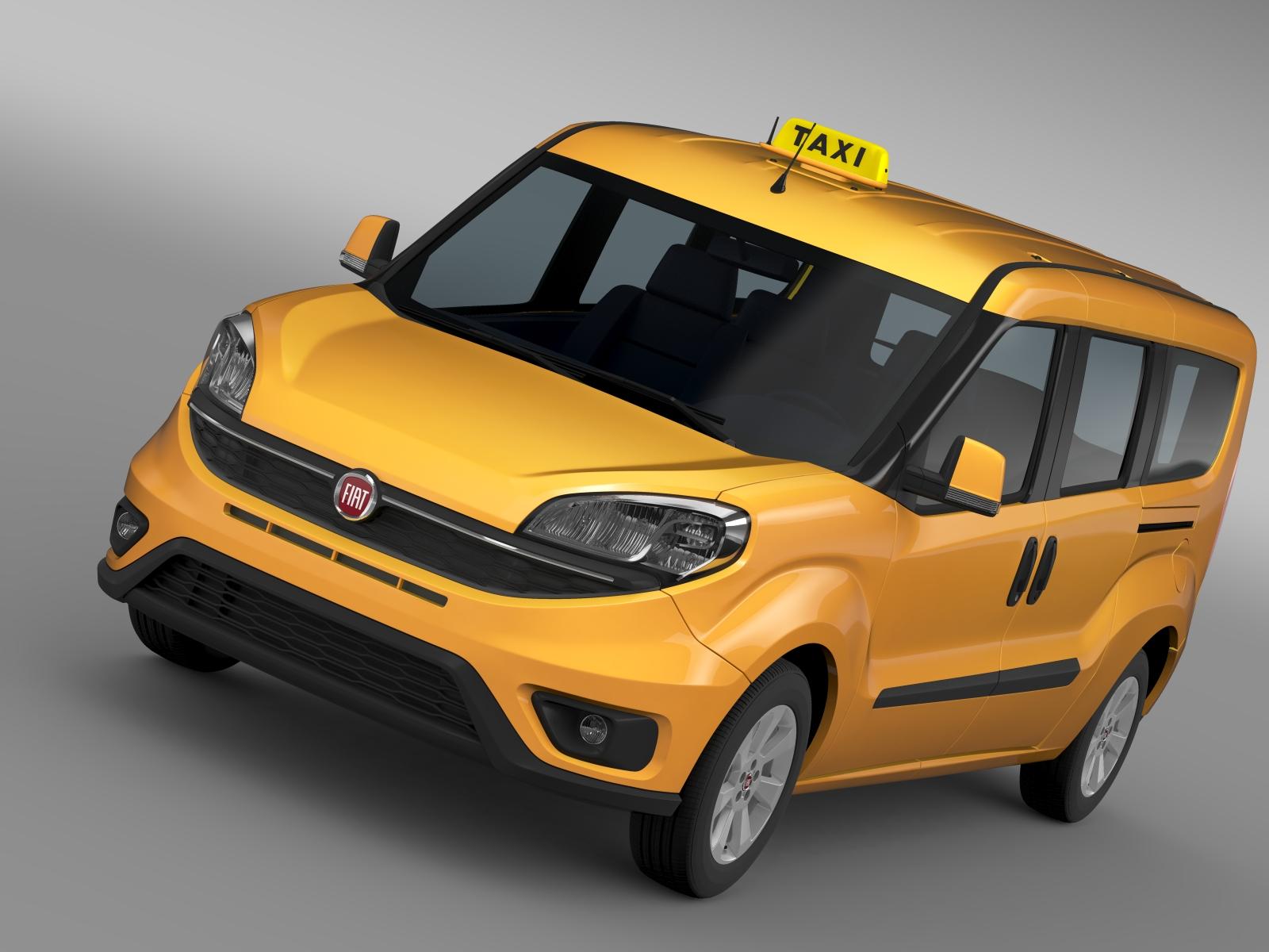 fiat doblo maxi taxi 152 2015 3d model 3ds max fbx c4d lwo ma mb hrc xsi obj 211669