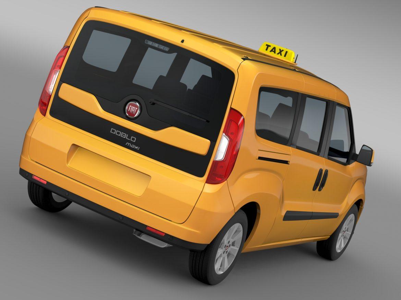 fiat doblo maxi taxi 152 2015 3d model 3ds max fbx c4d lwo ma mb hrc xsi obj 211670