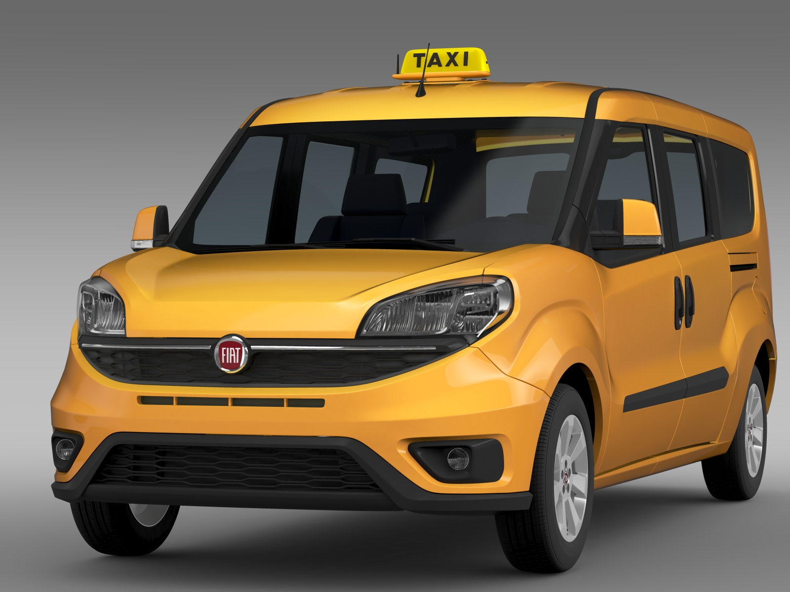 fiat doblo maxi taxi 152 2015 3d model buy fiat doblo. Black Bedroom Furniture Sets. Home Design Ideas