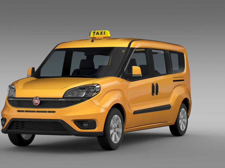 fiat doblo maxi taxi 152 2015 3d model 3ds max fbx c4d lwo ma mb hrc xsi obj 211672