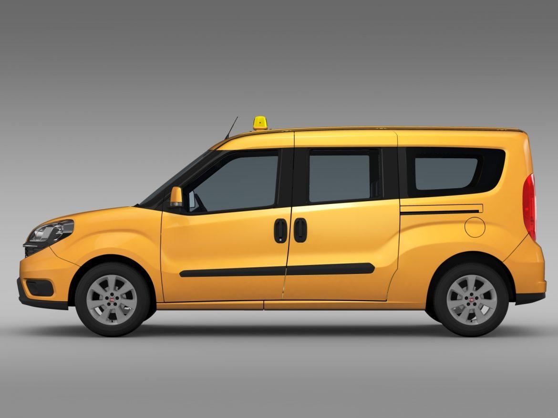 fiat doblo maxi taxi 152 2015 3d model 3ds max fbx c4d lwo ma mb hrc xsi obj 211674