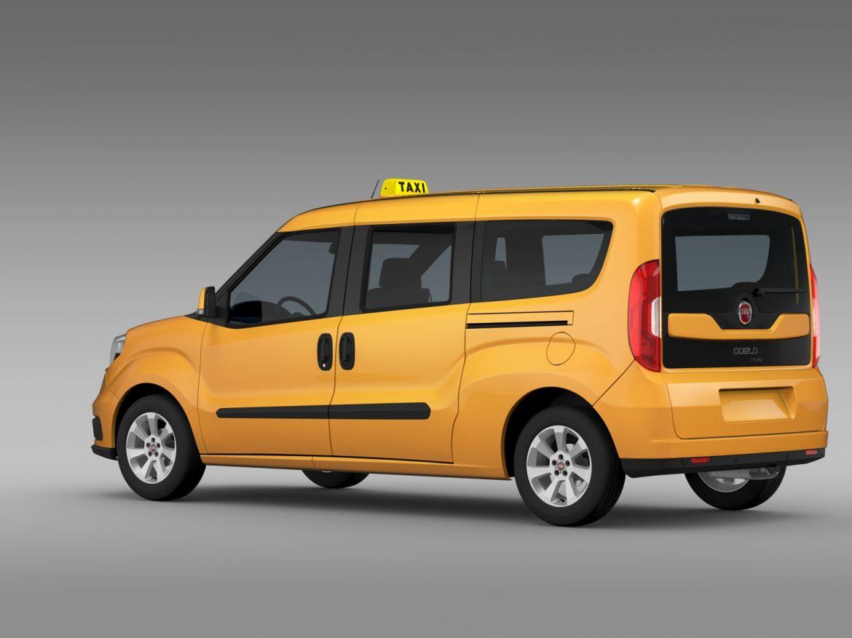 fiat doblo maxi taxi 152 2015 3d model 3ds max fbx c4d lwo ma mb hrc xsi obj 211675