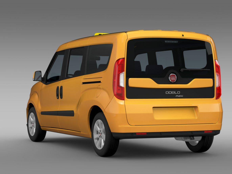 fiat doblo maxi taxi 152 2015 3d model 3ds max fbx c4d lwo ma mb hrc xsi obj 211676