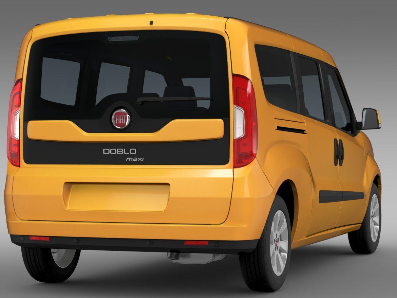 fiat doblo maxi taxi 152 2015 3d model 3ds max fbx c4d lwo ma mb hrc xsi obj 211677