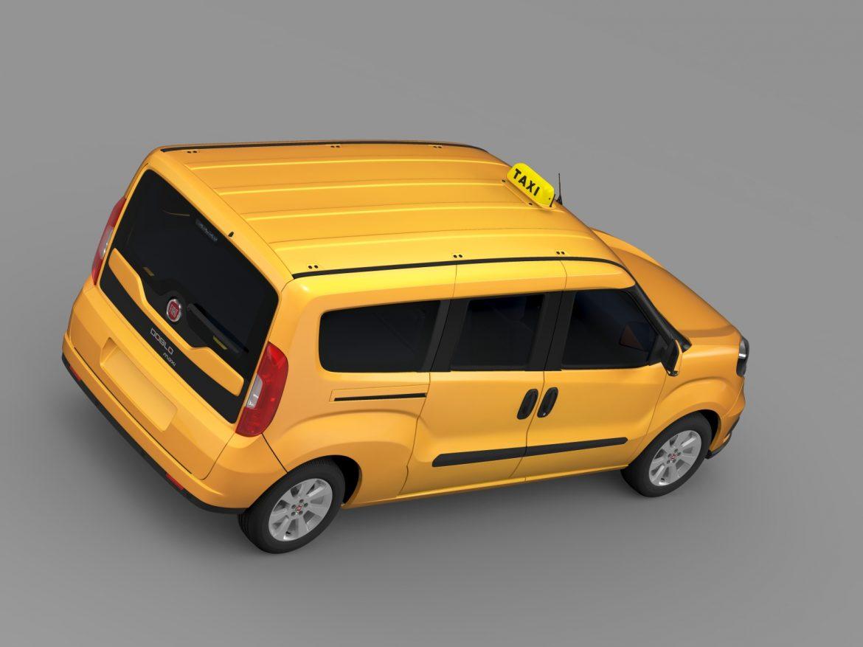 fiat doblo maxi taxi 152 2015 3d model 3ds max fbx c4d lwo ma mb hrc xsi obj 211678