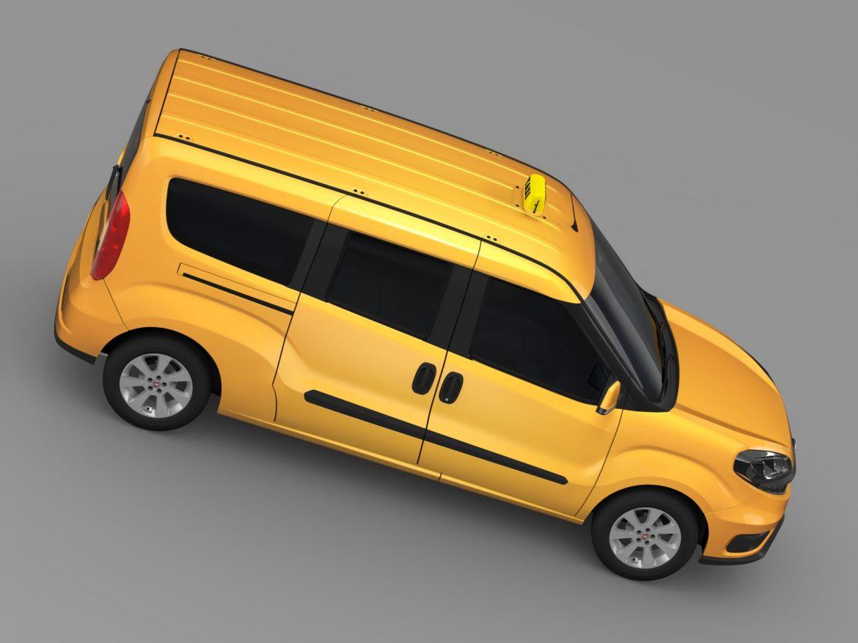 fiat doblo maxi taxi 152 2015 3d model 3ds max fbx c4d lwo ma mb hrc xsi obj 211679