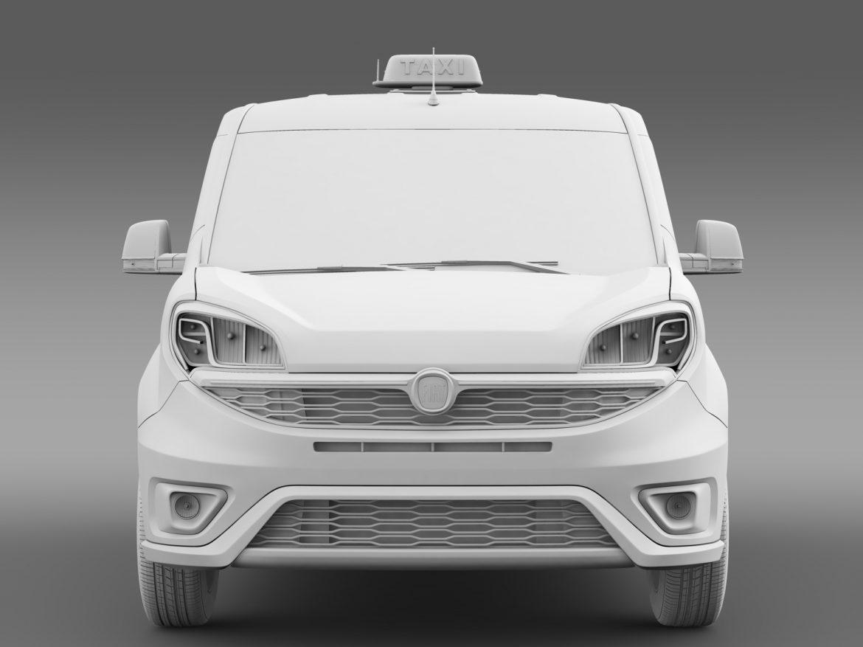 fiat doblo maxi taxi 152 2015 3d model 3ds max fbx c4d lwo ma mb hrc xsi obj 211681