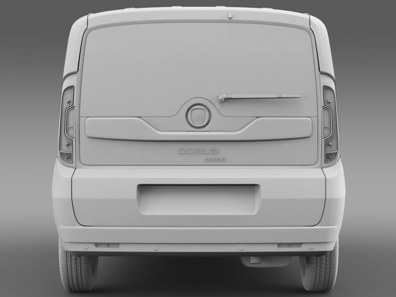 fiat doblo maxi taxi 152 2015 3d model 3ds max fbx c4d lwo ma mb hrc xsi obj 211682