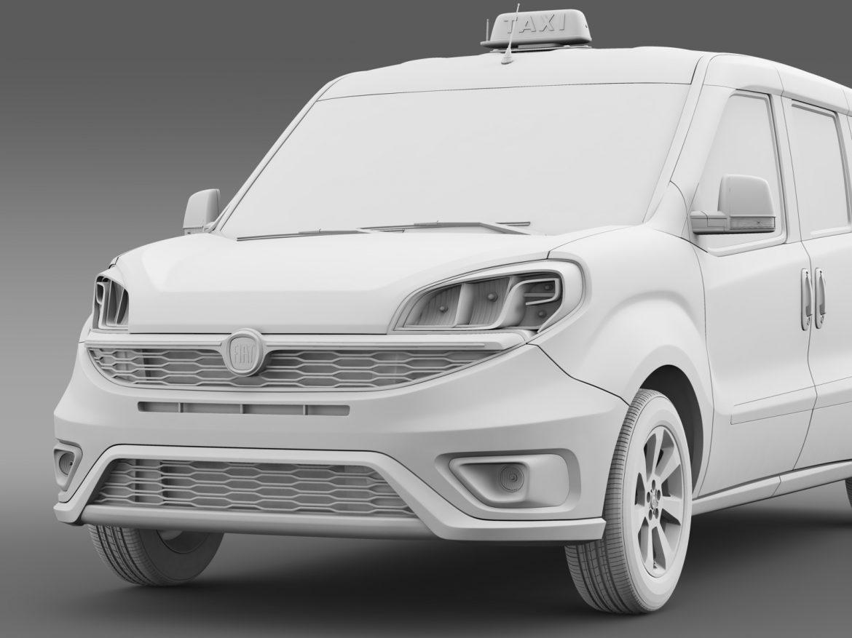 fiat doblo maxi taxi 152 2015 3d model 3ds max fbx c4d lwo ma mb hrc xsi obj 211683