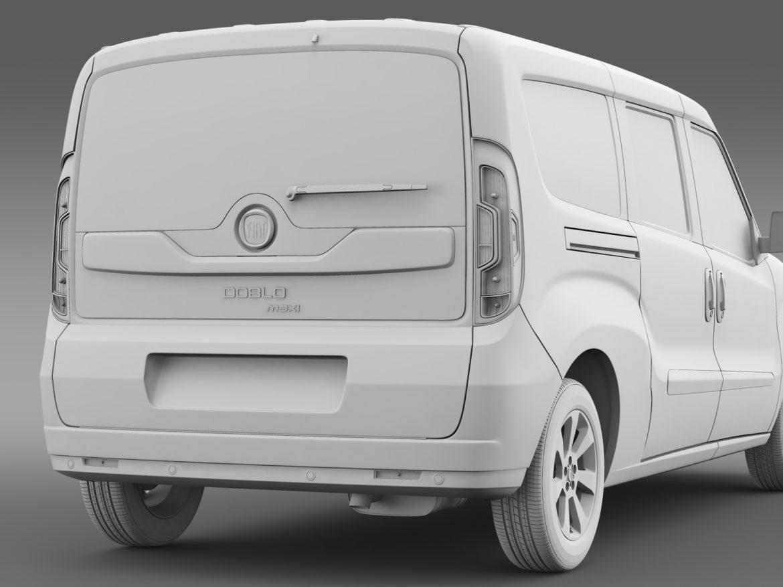 fiat doblo maxi taxi 152 2015 3d model 3ds max fbx c4d lwo ma mb hrc xsi obj 211684
