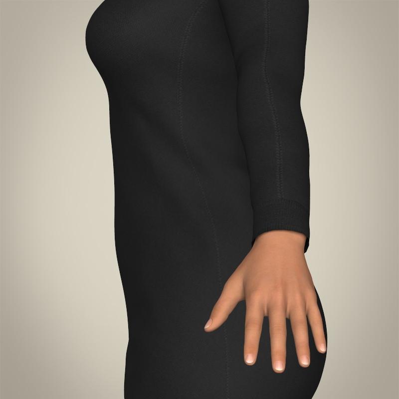 realistic islamic woman 3d model 3ds max fbx c4d lwo ma mb texture obj 211758