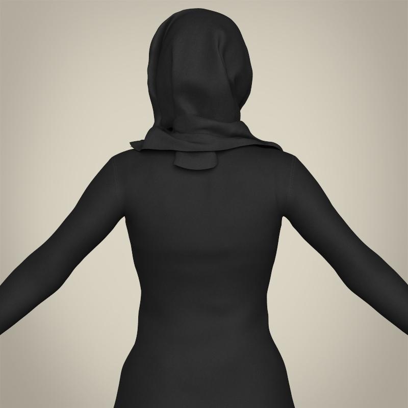 realistic islamic woman 3d model 3ds max fbx c4d lwo ma mb texture obj 211764