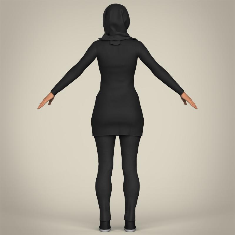 Realistic Islamic Woman 3D Model – Buy Realistic Islamic ...