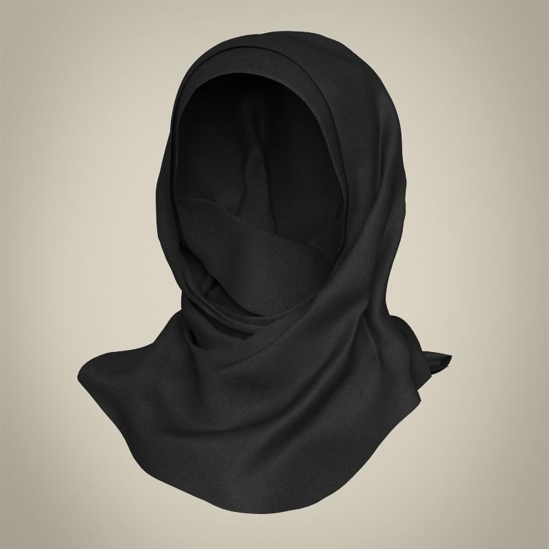 realistic islamic woman 3d model 3ds max fbx c4d lwo ma mb texture obj 211772