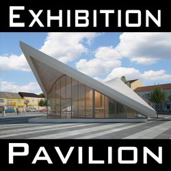Expo Pavilion at City Plaza (Render Ready) 3d model 0