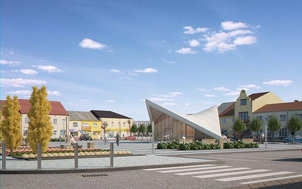 ekspozīcijas paviljons pilsētas laukumā (gatavs) 3d modelis max fbx c4d jpeg jpg tekstūra obj 212058