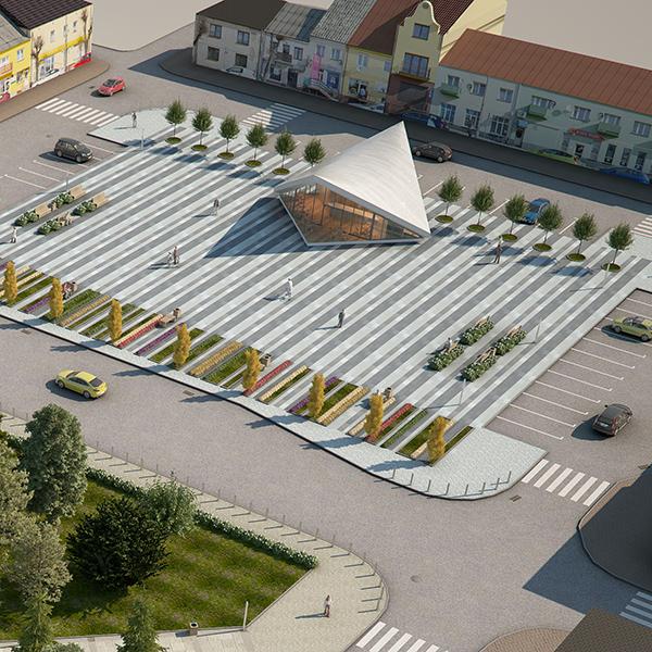 ekspozīcijas paviljons pilsētas laukumā (gatavs) 3d modelis max fbx c4d jpeg jpg tekstūra obj 212062
