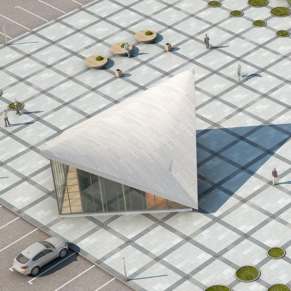 ekspozīcijas paviljons pilsētas laukumā (gatavs) 3d modelis max fbx c4d jpeg jpg tekstūra obj 212064