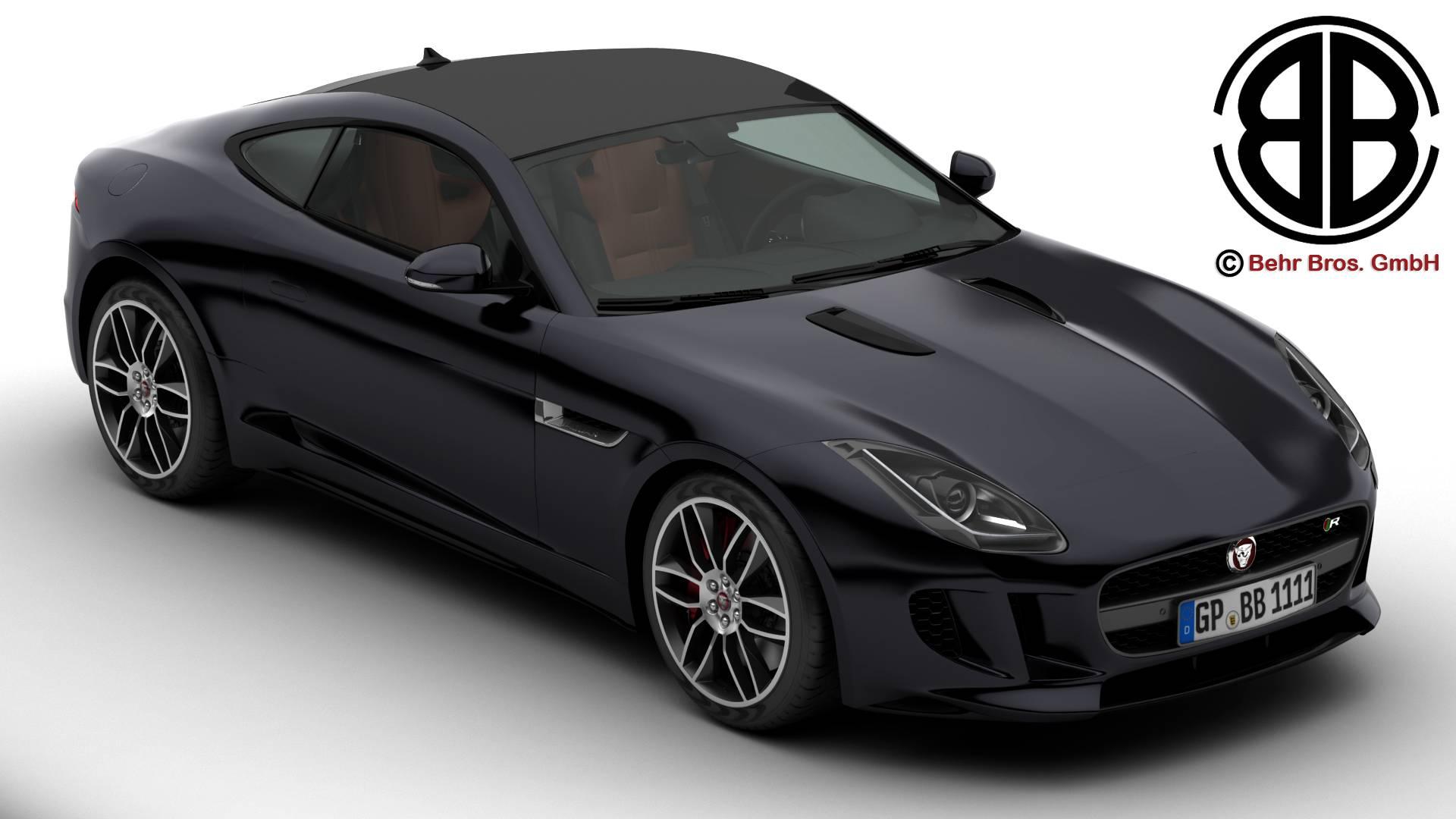 Jaguar F Type R Coupe 2015 3d Model Vehicles 3d Models Sport 3ds