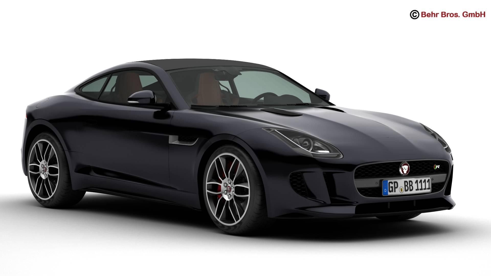 jaguar f type r coupe 2015 3d model 3ds max fbx c4d lwo ma mb obj 212067