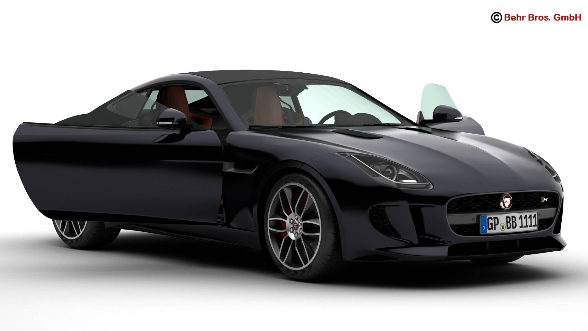 jaguar f type r coupe 2015 3d model buy jaguar f type r coupe 2015 3d model flatpyramid. Black Bedroom Furniture Sets. Home Design Ideas